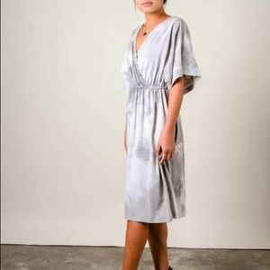 ✨HOST PICK✨ Tonlé Athena Dress   Size Small   Grey Tie-Dye